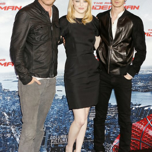 "Rhys Ifans / Emma Stone / Andrew Garfield / ""The Amazing Spider Man"" Photocall Poster"