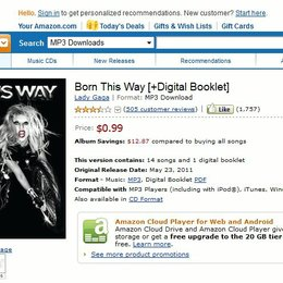 Amazon macht Lady GaGa erneut billig Poster