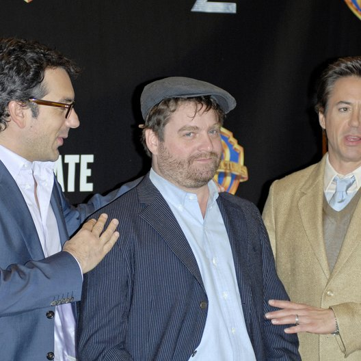 Phillips, Todd / Galifianakis, Zach / Downey Jr., Robert / Warner Bros. Pictures Introduces Upcoming Films at ShoWest, 2010 Poster