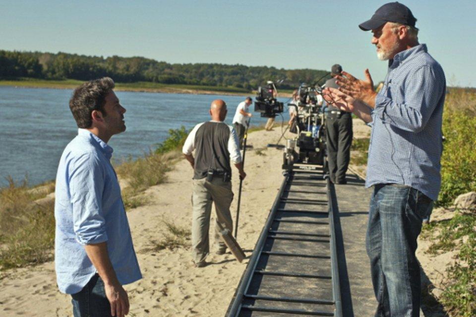 David Fincher auf dem Set von Gone Girl © Fox