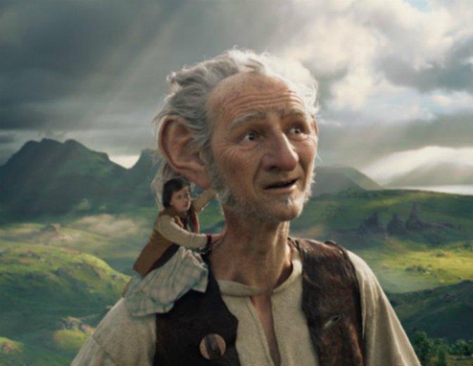 Sophie und ihr lieber Riese in Spielbergs Live-Action-Animationsfilm BFG © Constantin