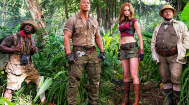 "Video mit Flammenwerfer: Dwayne Johnson fackelt ""Jumanji 2"" ab!  Poster"