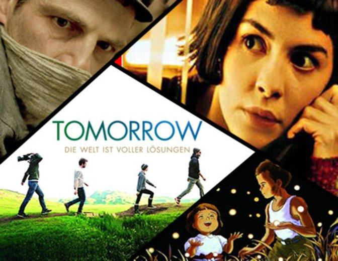 v.l.n.r.: Son of Saul, Die fabelhafte Welt der Amelie, Tomorrow - Die Welt ist voller Lösungen, Die letzten Glühwürmchen © Sony Pictures, Studio Ghibli