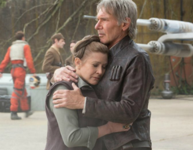 Han Leia Carrie Fisher Harrison Ford Star Wars 7