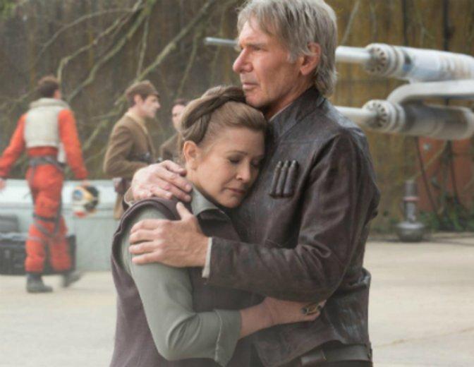 Han Leia Carrie Fisher Harrison Ford Star Wars 7