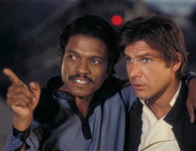 Lando Carlissian Han Solo Billy Dee Williams Harrison Ford