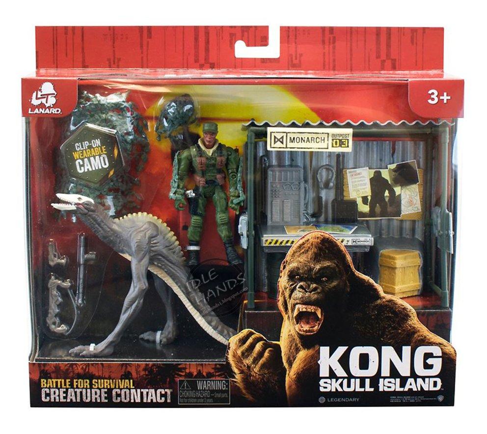 Lanard Kong Skull Island Battle for Survival Set Dino Monster with Shack Figure 001