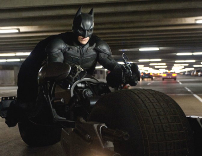 The Dark Knight Batman Christian Bale Batpod
