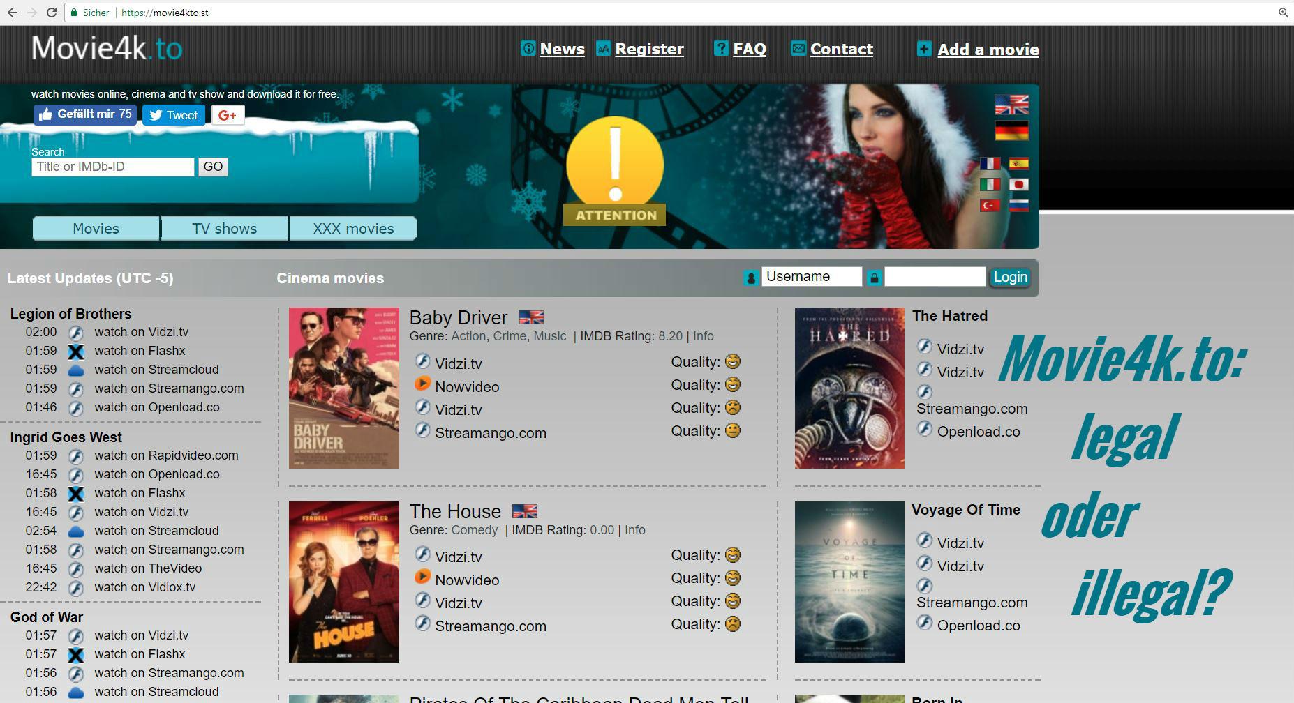 Movie4k: Kinofilme und Serien kostenlos online anschauen