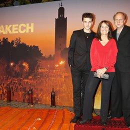 """Schneider, Samuel / Link, Caroline / Tukur, Ulrich / Premiere """"Exit Marrakech"""", München Poster"""