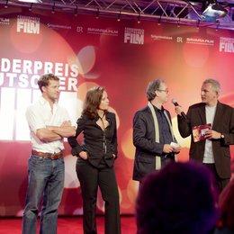 Vergabe des 21. Förderpreises Deutscher Film / Die Jury Maximilian Brückner, Caroline Link, Uli Aselmann und Moderator Matthias Matuschik Poster