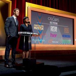 Nominierungen für die 86. Academy Awards / Chris Hemsworth und Cheryl Boone Isaacs Poster