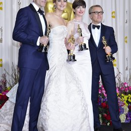 Daniel Day-Lewis / Jennifer Lawrence / Anne Hathaway / Christoph Waltz / 85th Academy Awards 2013 / Oscar 2013