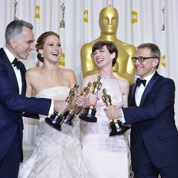 Daniel Day-Lewis / Jennifer Lawrence / Anne Hathaway / Christoph Waltz / 85th Academy Awards 2013 / Oscar 2013 Poster
