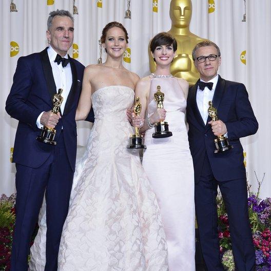 Daniel Day-Lewis / Jennifer Lawrence / Anne Hathaway / Christoph Waltz / 85th Academy Awards 2013 / Oscar 2013