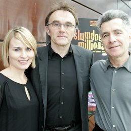 ISABEL SCHÜTT (Head of Publicity PROKINO), DANNY BOYLE, STEPHAN HUTTER (GF Marketing/Vertrieb PROKINO) Poster