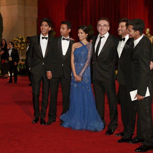 Patel, Dev / Khan, Irfan / Pinto, Freida / Boyle, Danny / Kapoor, Anil / Mittal, Madhur / Oscar 2009 / 81th Annual Academy Awards Poster