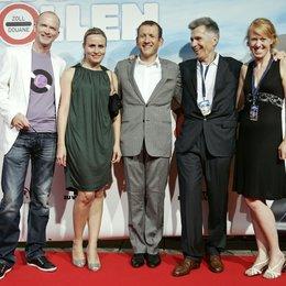 "Mike Thiel / Isabel Schütt / Dany Boon / Stephan Hutter / Barbara Bauer / Filmpremiere ""Nichts zu verzollen"" Poster"