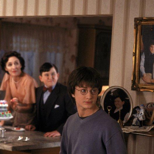 """Harry Potter und die Kammer des Schreckens / Fiona Shaw """"Petunia Dursley"""" / Harry Melling """"Dudley Dursley"""" / Daniel Radcliffe """"Harry Potter"""""""