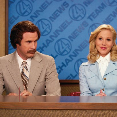 Anchorman - Die Legende von Ron Burgundy, Der / Will Ferrell / Christina Applegate Poster