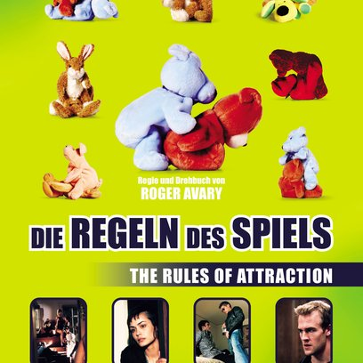 Regeln des Spiels - Rules of Attraction, Die Poster