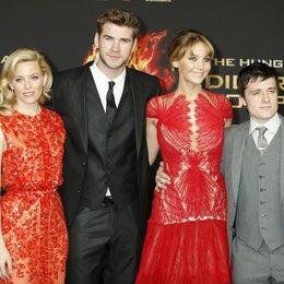 "Elizabeth Banks / Liam Hemsworth / Jennifer Lawrence / Josh Hutcherson / Filmpremiere ""Die Tribute von Panem - Hunger Games"" Poster"