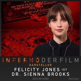 "Felicity Jones spielt in ""Inferno"" Poster"
