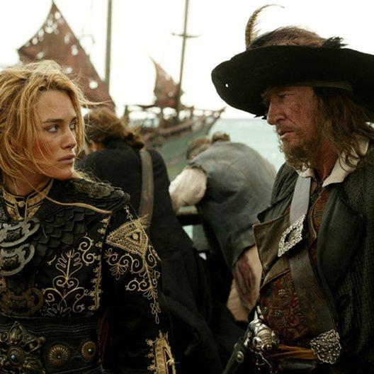 Pirates of the Caribbean - Am Ende der Welt / Keira Knightley / Geoffrey Rush Poster