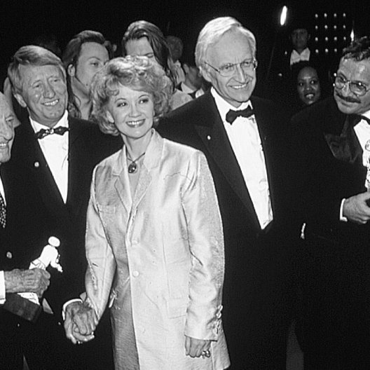 Bayerischer Filmpreis 1996 / Kurt Hoffmann / Hans Zehetmaier / Liselotte Pulver / Edmund Stoiber (Ministerpräsident) / Götz George Poster