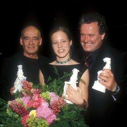 """Bayerischer Fernsehpreis """"Blaue Panther"""" 2000 / Hans-Michael Rehberg, Bernadette Heerwagen und Julian Pölsler Poster"""