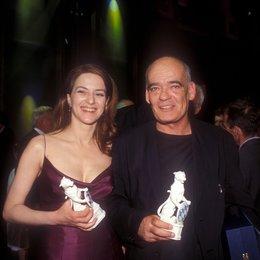 """Bayerischer Fernsehpreis """"Blaue Panther"""" 2000 / Martina Gedeck und Hans-Michael Rehberg Poster"""