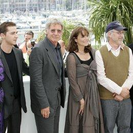 Blanchett, Cate / Shia LaBeouf / Harrison Ford / Karen Allen / Steven Spielberg / George Lucas / Cast Indiana Jones 4 / 61. Filmfestival Cannes 2008 Poster