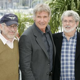 Spielberg, Steven / Harrison Ford / George Lucas / 61. Filmfestival Cannes 2008 Poster