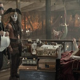 Lone Ranger / Armie Hammer / Johnny Depp / Helena Bonham Carter Poster