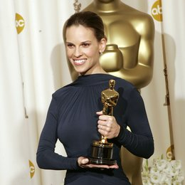 "77. Academy Awards 2005 / Oscar 2005 / Gewinner in der Kategorie ""Beste Hauptdarstellerin"" Hilary Swank Poster"
