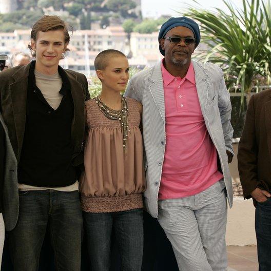 58. Filmfestival Cannes 2005 - Festival de Cannes / Ian McDiarmid / Hayden Christensen / Natalie Portman / Samuel L. Jackson / George Lucas / Star Wars Poster