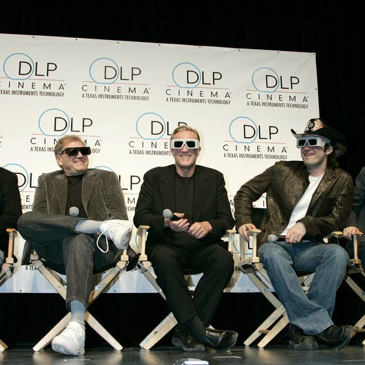 "George Lucas / Robert Zemeckis / Randal Kleiser / Robert Rodriguez / James Cameron / ""3D:New Dimensions In Digital Cinema"" / 31. ShoWest Awards 2005 in Las Vegas Poster"