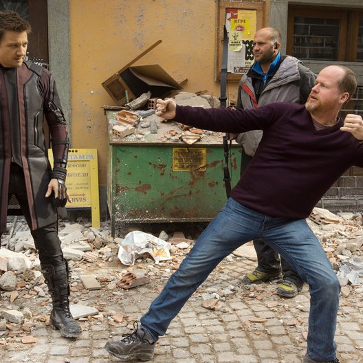 Avengers: Age of Ultron / Set / Jeremy Renner / Joss Whedon