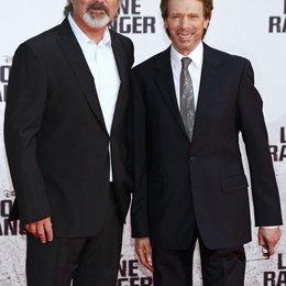"""Gore Verbinski / Jerry Bruckheimer / Filmpremiere """"Lone Ranger"""" Poster"""