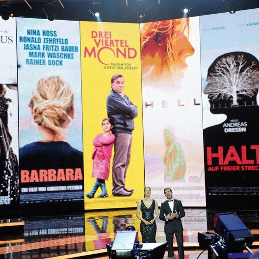 62. Deutscher Filmpreis 2012 / Moderatorenduo Jessica Schwarz und Elyas M'Barek