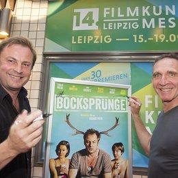 """14. Filmkunstmesse Leipzig / Regisseur Eckhard Preuß und Darsteller Jochen Nickel hatten """"Bocksprünge"""" nach Leipzig mitgebracht Poster"""