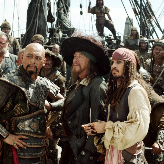 Pirates of the Caribbean - Am Ende der Welt / Geoffrey Rush / Johnny Depp Poster