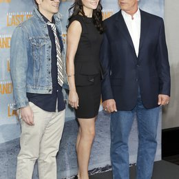 "Johnny Knoxville / Arnold Schwarzenegger / Jaimie Alexander / Filmpremiere ""The last stand"" Poster"