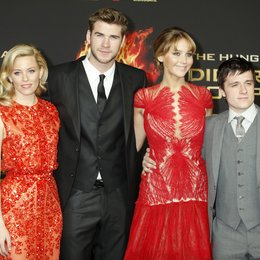 "Elizabeth Banks / Liam Hemsworth / Jennifer Lawrence / Josh Hutcherson / Filmpremiere ""Die Tribute von Panem - Hunger Games"" Poster"