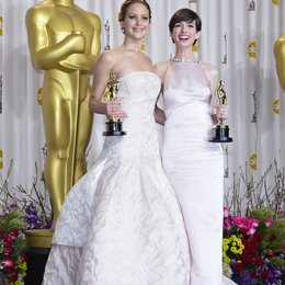 Jennifer Lawrence / Anne Hathaway / 85th Academy Awards 2013 / Oscar 2013 Poster