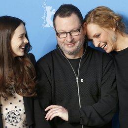 Martin, Stacy / Trier, Lars von / Thurman, Uma / 64. Berlinale 2014