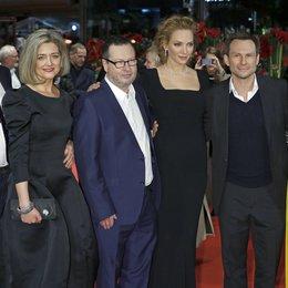 Nymphomaniac-Team / Skarsgård , Stellan / Trier, Bent von / Trier, Lars von / Thurman, Uma / Slater, Christian / Martin, Stacy / 64. Berlinale 2014