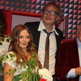 Deutscher Musikautorenpreis 2012 / Schlussfoto mit Cäthe, Annett Louisan, Leander Haußmann und James Last