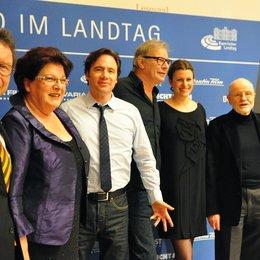 Klaus Schaefer, Landtagspräsidentin Barbara Stamm, Michael Bully Herbig, Leander Haußmann, Thekla Reuten und Günter Rohrbach (v.l.n.r.)