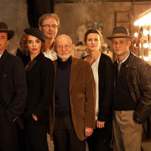 """Michael """"Bully"""" Herbig, Thekla Reuten, Leander Haußmann (hinten), Günter Rohrbach, Corinna Eich (Produzentin), Jürgen Vogel (v.l.n.r.)"""